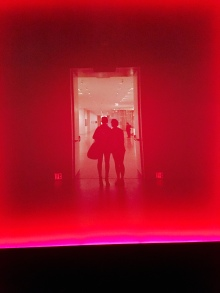 "Entering James Turrell's ""The Light Inside"" tunnel at the MFAH"