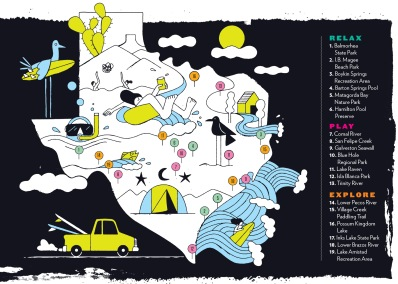 Texas Monthly's map of watering holes