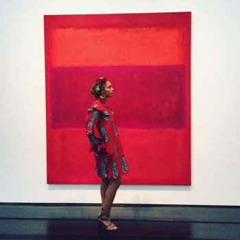 Bey got special permission to take a photo at The Menil during a trip home