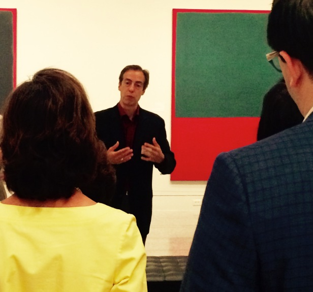 Christopher Rothko, son of Mark Rothko, leads a private tour during the Rothko retrospective at the MFAH