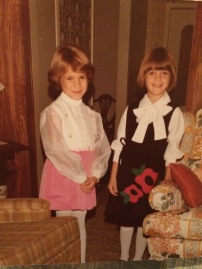 Ca 1976 when our moms cut our hair off into Dorothy Hammill cuts