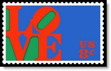 The 1973 Valentines Day stamp
