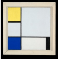 Composition with Yellow, Blue, Black and Light Blue   oil on canvas ca. 1929, Yale University Gallery of Art