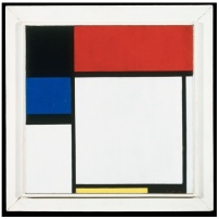 Fox Trot B, with Black, Red, Blue, and Yellow | oil on canvas ca. 1929, Yale University Gallery of Art