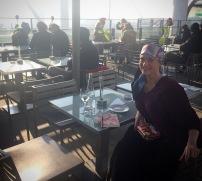 Outdoor lunch on top floor of the Pompidou