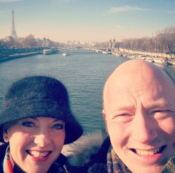 With Jonathan on the Pont Des Invalides Bridge