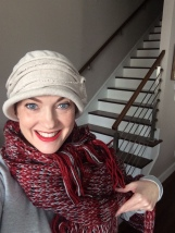 Hat from the Barbins, scarf from college roomie Melissa Miller