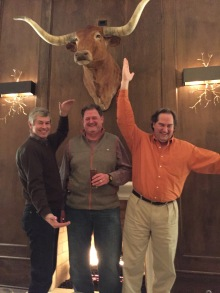 OMG, Wayne Walker, Steve Short and Evans Smith spelling out my childhood nickname CL. I died when they sent this picture from Tyler.