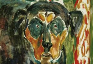 Edvard Munch, Head of a Dog, 1930, oil on canvas, Munch Museum, Oslo, Norway