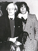 Warhol with Archie and MIck Jagger