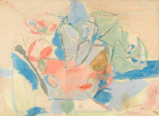 """Mountains and the Sea"" 1952, from the Helen Frankenthaler Foundation"