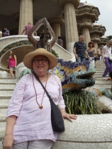 Jean King at Park Güell.