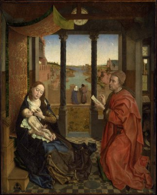 Saint Luke Drawing the Virgin, Rogier van der Weyden ca 1435-40